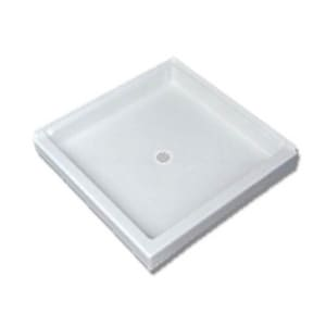 Florestone Saflor® 34 x 34 in. Shower Base in White F34342LWH