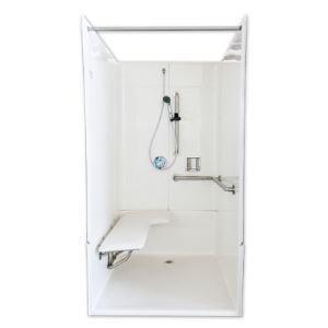 Florestone 40 x 39 x 78 in. Alcove Shower Unit in White F3PC4040HRH