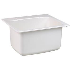 Florestone Drop-In Utility Sink in White FSR3WHU