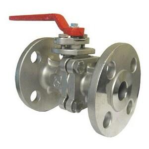 Flow-Tek 4 in. Stainless Steel Full Port Flanged 150# Ball Valve FF153R113JGL