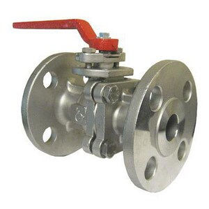 Flow-Tek Series RF15 4 in. Stainless Steel Standard Port Flanged 150# 1 piece Ball Valve with TFM 1600 Seat FRF153R113JGL