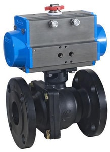 Flow-Tek 6 in. Carbon Steel Full Port Flanged 150# Ball Valve FF152R133JRL