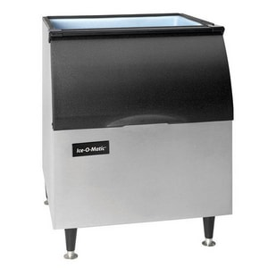 Ice-O-Matic ICE Series 30 in. 365 lb. Polyethylene Modular Ice Maker Ice Bin in Stainless Steel IB40PS