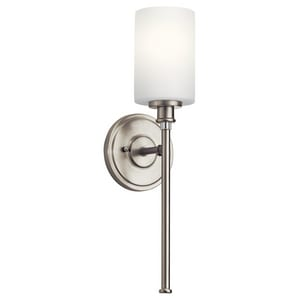 Kichler Lighting Joelson 9W 1-Light LED Wall Sconce in Brushed Nickel KK45921NIL18