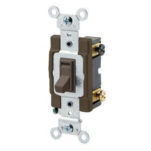 Leviton Toggle Switch in Brown L545042
