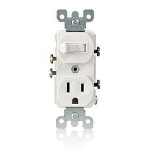 1 POLE Switch & Grounded Receptacle Brown L5225