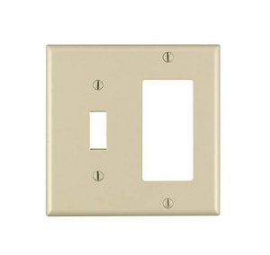 Leviton Decora® 2-Gang 1-Toggle Thermoset Nylon Wall Plate in Ivory L80405I