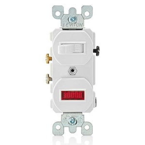 Leviton 1-Pole 1-Switch and Light in White L5226W