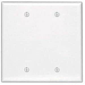 Leviton Box Mount Thermoset Midway Size Blank Wallplate in White L80525W