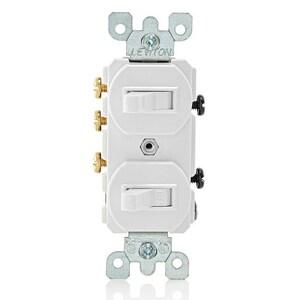 Leviton 1-Port 3-Way Duplex Switch in White L5241WS