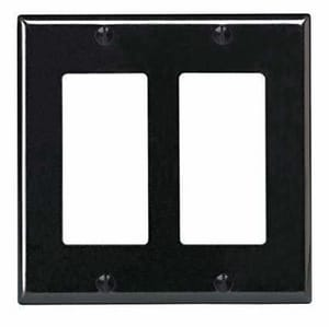 Leviton Decora® 2-Gang Standard Size Thermoset Wall Plate or Faceplate in Light Almond L80409T