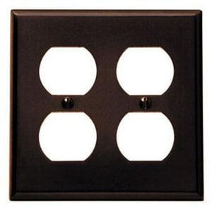 Leviton 2-Gang Device Receptacle Wallplate in Brown L85016