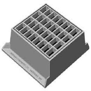 Neenah Foundry 22-3/4 in. Type-B Standard Frame and Grate with 3-Flange NR3571X