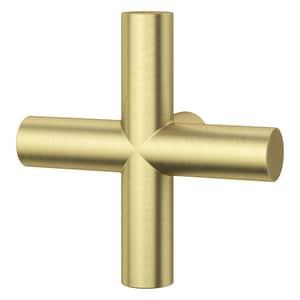 Pfister 3-1/8 in. Metal Cross Handle in Brushed Gold PHHL089TNTBG