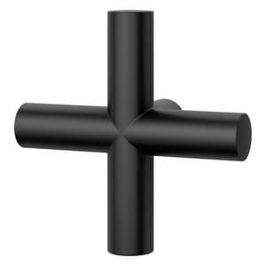 Pfister 3-1/8 in. Metal Cross Handle in Matte Black PHHL089TNTB