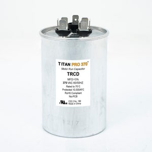 Packard Titan Pro™ 3-47/50 in. 35/5mfd 440/370V Round Run Capacitor TTRCD355