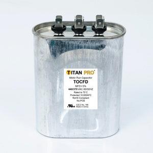Packard Titan Pro™ 55/10mfd 440/370V Oval Run Capacitor TTOCFD5510
