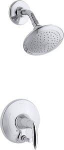 Kohler Alteo® 2.5 gpm 1-Function Wall Mount Shower Trim Set with Push-Button Diverter and Single Lever Handle (Less Showerhead) in Polished Chrome KT45108-4L