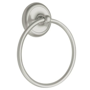 Pamex Corona Round Closed Towel Ring in Satin Nickel PBC3SN30