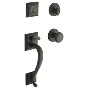 Pamex Lexington Single Cylinder Solid Brass Entry Handleset in Oil Rubbed Bronze PFS7031R