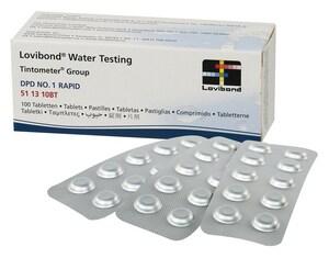 Tintometer #1 5 mg DPD Rapid Tablet 100 Test for Aqua Comparator Chlorine Test Kits T511310BT at Pollardwater
