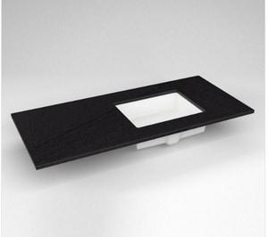 Robern 3-Hole 1-Bowl Rectangular Vanity Top in Lava Black RTF49URO908