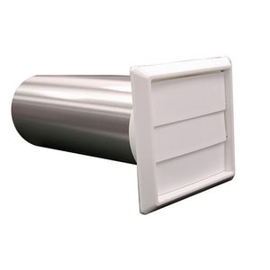 Jones Stephens 4 in. Dryer Vent/Hood Louvered White JD04025