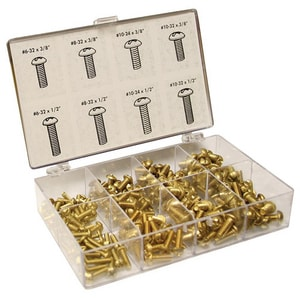 Jones Stephens 200-Piece Brass Bibb Screw Kit JJ40153