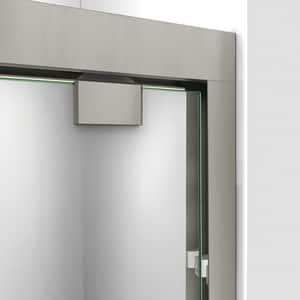 DreamLine Encore 78-3/4 x 48 in. Semi-Framed Sliding Shower Door with Base Kit in Brushed Nickel with White DDL7002C04