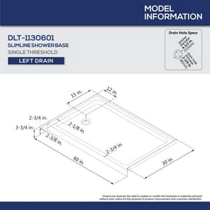 DreamLine Encore 78-3/4 x 60 in. Semi-Framed Sliding Shower Door with Base Kit in Chrome with White DDL7004L01
