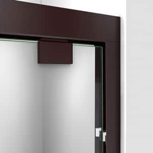 DreamLine Encore 54 in. Frameless Bypass Sliding Shower Door with Clear Glass in Oil Rubbed Bronze DSHDR165476006