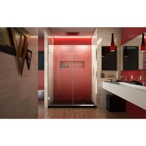 DreamLine Unidoor Plus 58 in. Frameless Hinged Shower Door with Clear Tempered Glass in Polished Chrome DSHDR24575721001