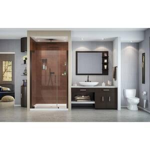 DreamLine Elegance 48 in. Frameless Pivot Shower Door with Tempered Glass in Oil Rubbed Bronze DSHDR414672006