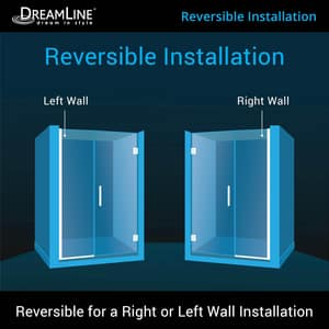 DreamLine Unidoor Plus 58-1/2 in. Frameless Hinged Shower Door with Clear Tempered Glass in Polished Chrome DSHDR24580721001