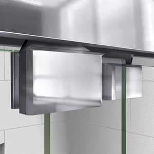 DreamLine Encore 78-3/4 x 60 in. Semi-Framed Sliding Shower Door with Base Kit in Chrome with Biscuit DDL7007L2201