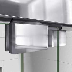 DreamLine Encore 78-3/4 x 60 in. Semi-Framed Sliding Shower Door with Base Kit in Chrome with White DDL7004R01