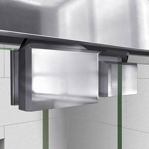 DreamLine Encore 78-3/4 x 48 in. Semi-Framed Sliding Shower Door with Base Kit in Chrome with Black DDL7009C8801