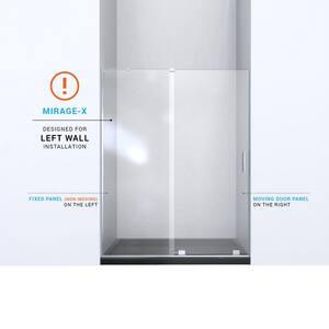 DreamLine Mirage-X 60 in. Frameless Sliding Shower Door with Left Wall Bracket DSHDR1960723L
