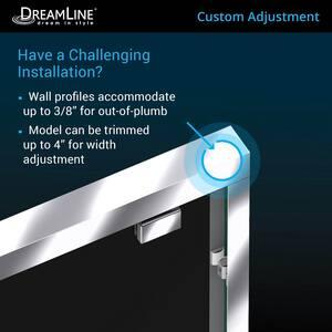 DreamLine Encore 78-3/4 x 60 in. Semi-Framed Sliding Shower Door with Base Kit in Chrome with White DDL7005L01