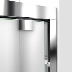 DreamLine Encore 78-3/4 x 54 in. Semi-Framed Sliding Shower Door with Base Kit in Chrome with Black DDL7003C8801