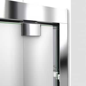 DreamLine Encore 78-3/4 x 60 in. Semi-Framed Sliding Shower Door with Base Kit in Chrome with Biscuit DDL7005C2201