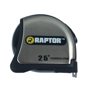 RAPTOR® 25 ft. Tape Measure Stainless Steel Casing RAP17006