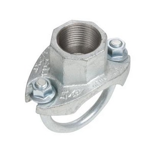 Smith-Cooper Cooplok™ 2 x 2 x 1 in. NPT Reducing Schedule 40 Galvanized Ductile Iron Single Strap Tee with EPDM E-Gasket S66MU3020010