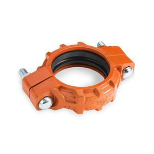 Smith-Cooper Cooplok™ 10 in. Grooved Straight Flexible Coupling with Orange Painted Housing EPDM C-Gasket S65SF3100