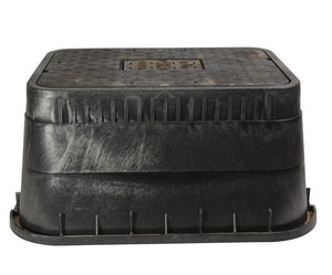 NDS 13 x 20 x 12 in. Meter Box with Cast Iron Cover ND1500DICIR