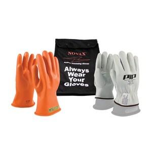 NOVAX® Size 8 Rubber Glove with Nylon Bag in Orange P147SK008KIT