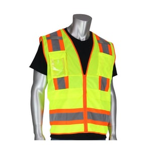 Protective Industrial Products Size M Polyester Class 2 Tech Vest in Hi-Viz Lime Yellow P3020700LYM
