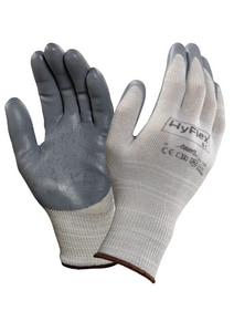 Ansell Occupational Healthcare HyFlex® Size 8 13 ga Foam Nitrile Coated Nylon and Fiber Knit Wrist ESD Gloves in Grey (Pack of 12) A205591