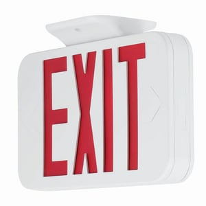 Progress Lighting Battery Back Up LED Exit Sign Red Letters PPETPEUR30