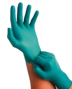 Ansell TouchNTuff® 9-1/2 in. S Size Rubber Powder Free Glove in Green A552822